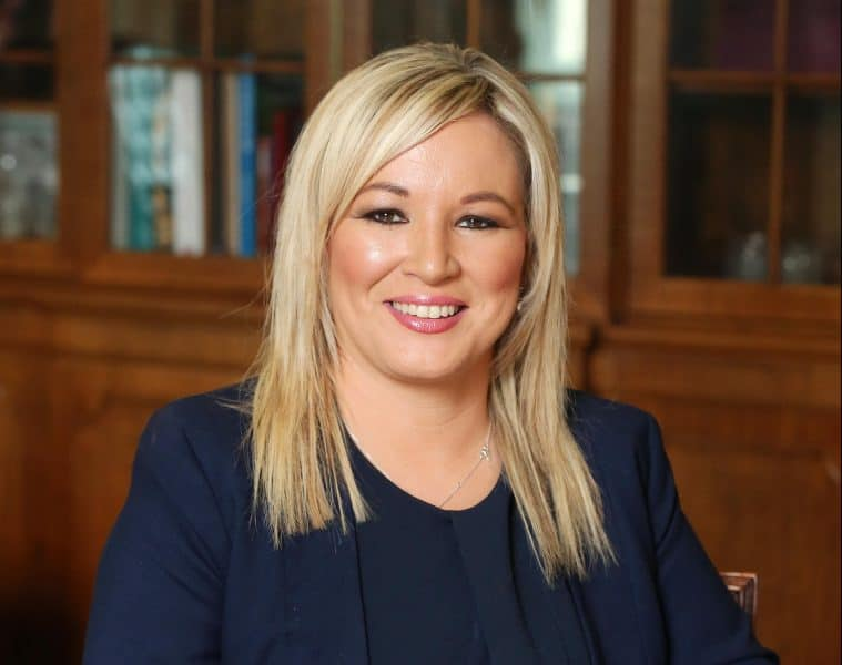 Press Eye - Belfast - Northern Ireland - 25th May 2016 -   New Sinn Fein minister Michelle O'Neill   Photo by Kelvin Boyes / Press Eye.